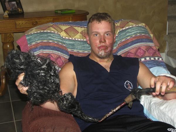 Schokkend: Bliksem raakt visser